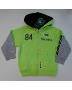 Blue Seven jongens sweat vest LT GREEN