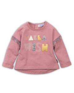 Dirkje baby pullover  donker oud roze