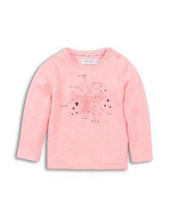 Dirkje baby t-shirt fel roze