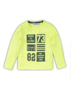 Dirkje baby t-shirt lange mouwen neon geel