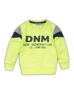 Dirkje baby sweater neon geel