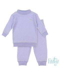 Feetje wafel pyjama lila autumn special maat 56 t/m 86