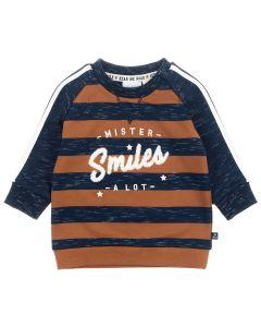 Feetje Sweater Mister Smiles - Smile and Roar Marine melange