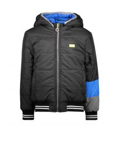 B.nosy boys reversible jacket with contrast sleeve-end Black